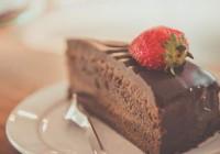 сурова торта с черен шоколад